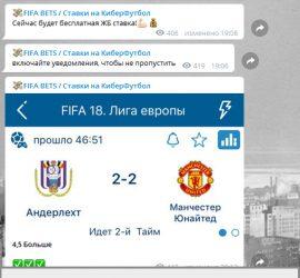 FIFA Bet телеграмм обзор