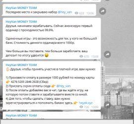 heyvan moneyteam телеграмм обзор