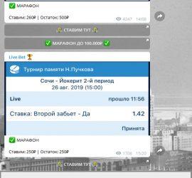Live Bet телеграмм обзор