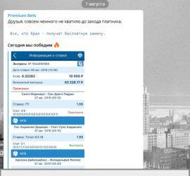 Premium Bets телеграмм обзор