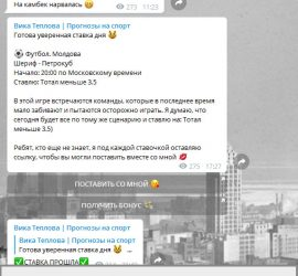 Вика теплова телеграмм отзывы