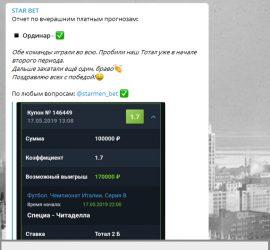 Star Bet телеграмм обзор